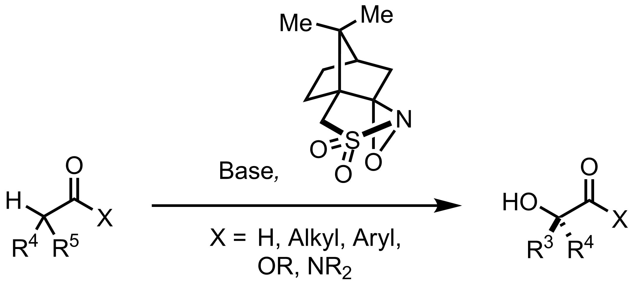 Schematic representation of the Davis Asymmetric Hydroxylation.