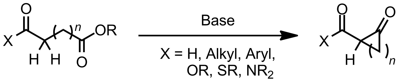 Schematic representation of the Dieckmann Condensation.