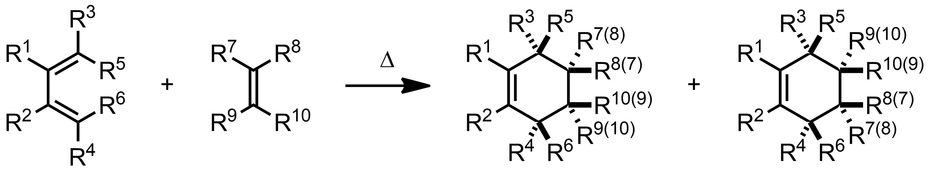 Schematic representation of the Diels-Alder Reaction.