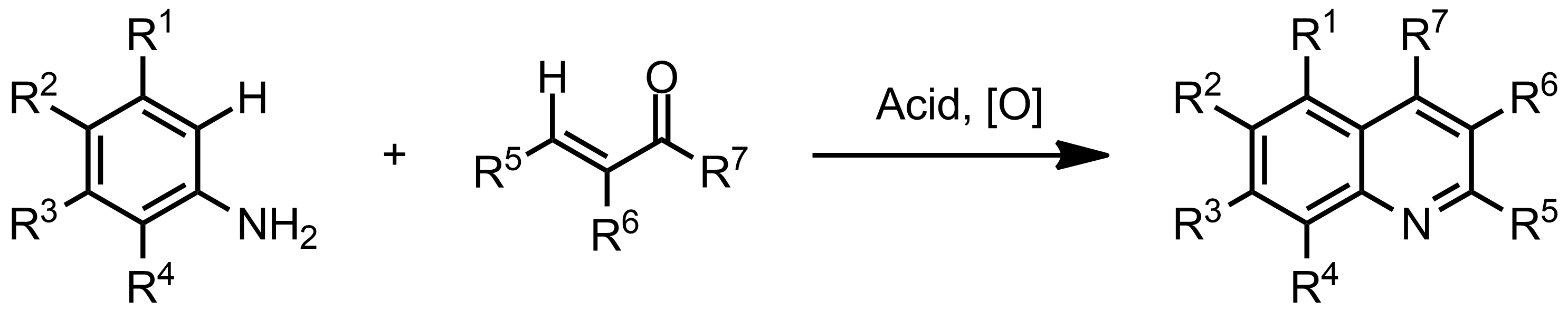 Schematic representation of the Doebner-Miller Reaction.