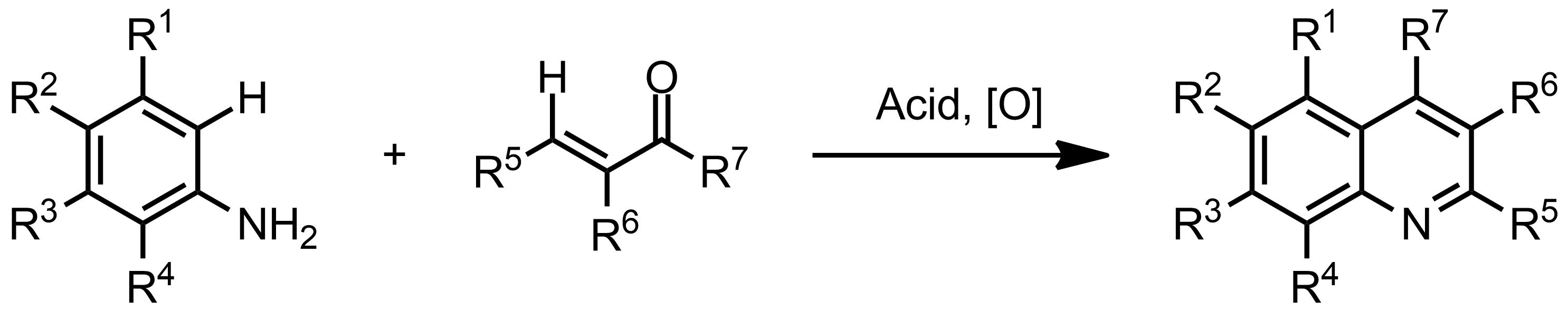 Schematic representation of the Doebner-Miller Reaction.