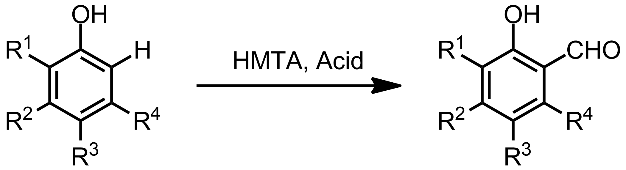 Schematic representation of the Duff Reaction.