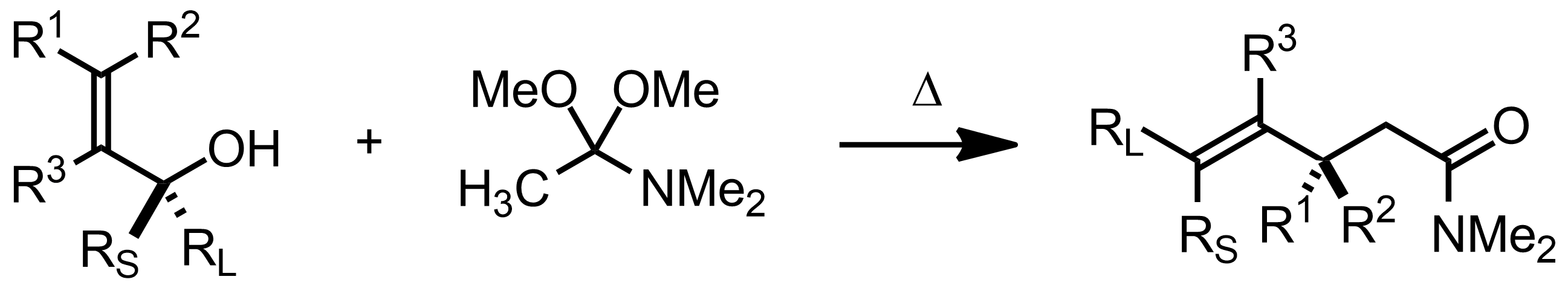 Schematic representation of the Eschenmoser-Claisen Rearrangement.