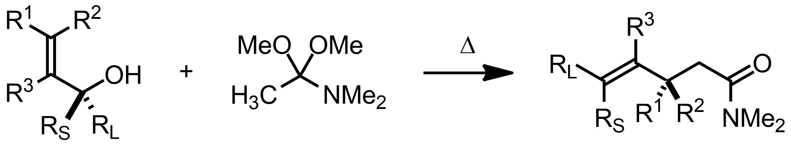 Schematic representation of the Eschenmoser-Claisen Rearrangement.