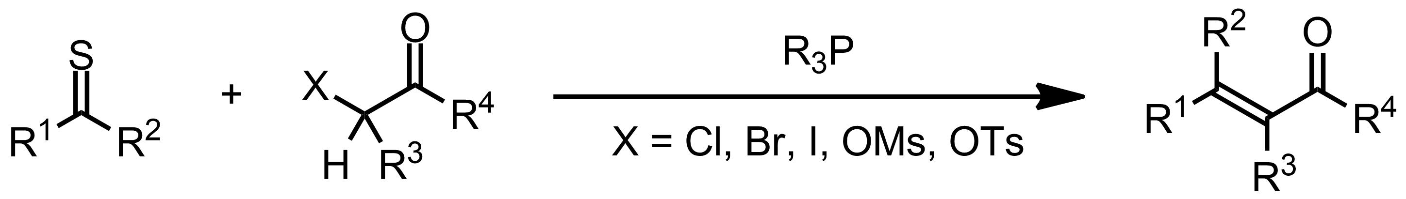 Schematic representation of the Eschenmoser Sulfide Contraction.