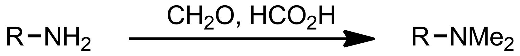 Schematic representation of the Eschweiler-Clarke Reaction.