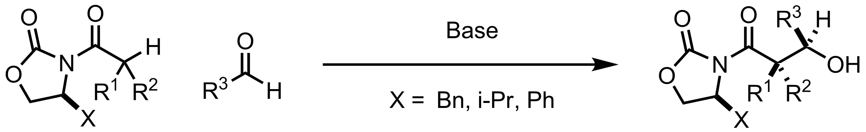 Schematic representation of the Evans Asymmetric Aldol Addition.
