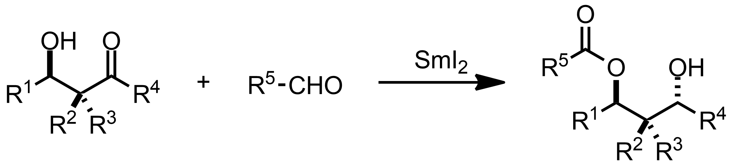 Schematic representation of the Evans-Tishchenko Reaction.