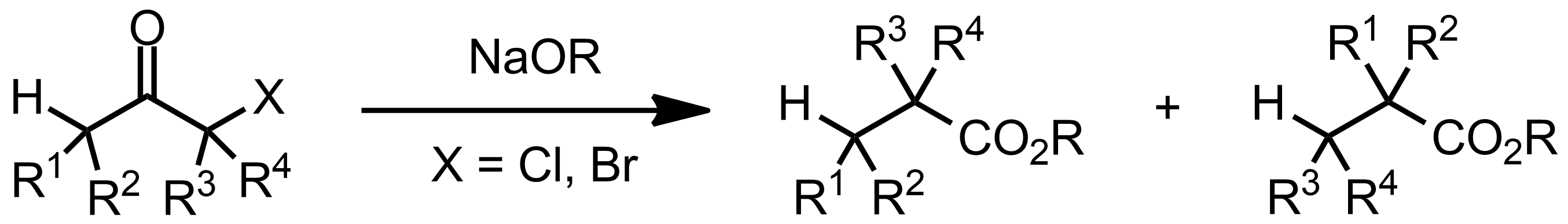 Schematic representation of the Favorskii Rearrangement.