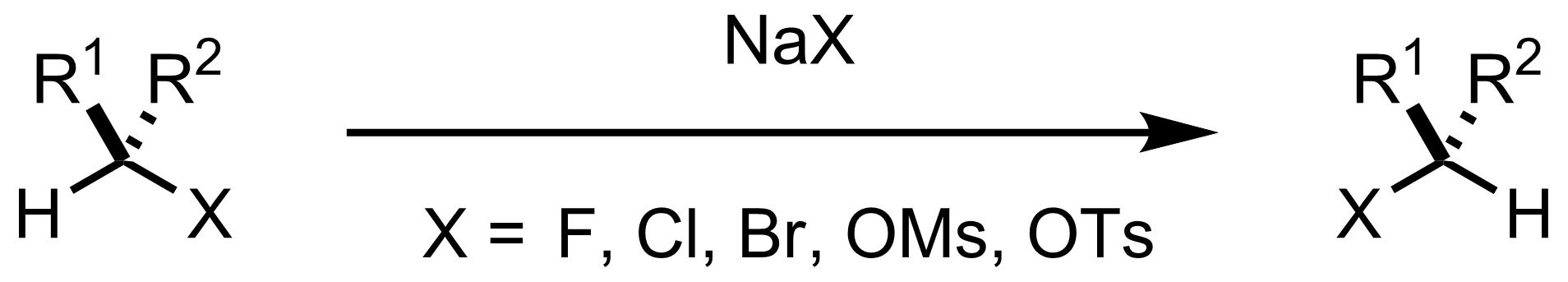 Schematic representation of the Finkelstein Reaction.
