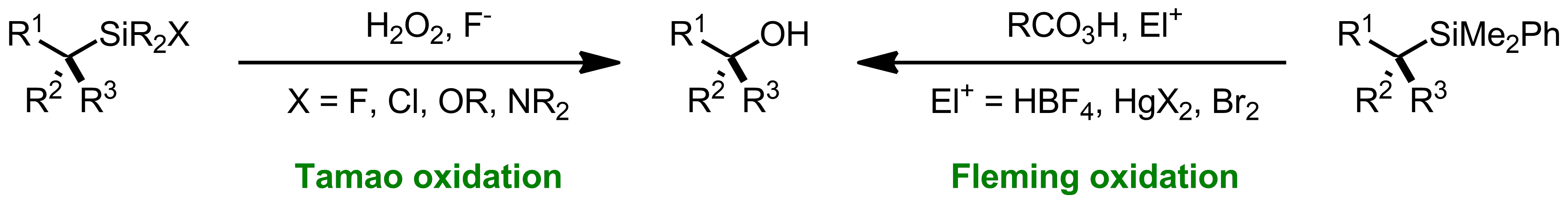 Schematic representation of the Fleming-Tamao Oxidation.