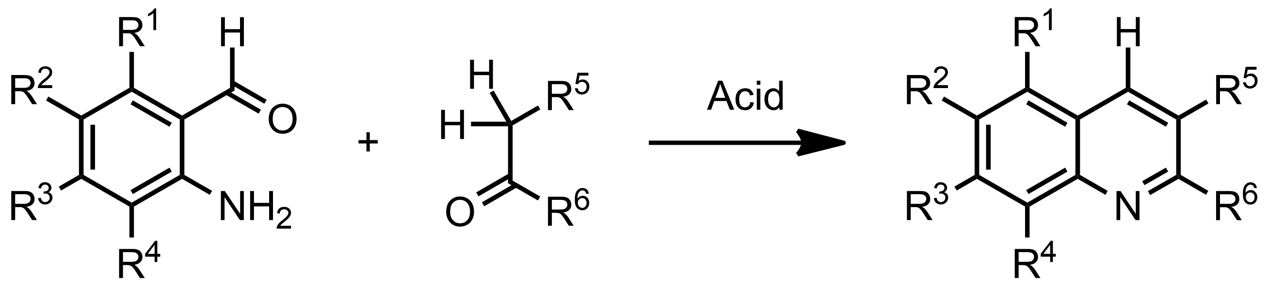 Schematic representation of the Friedländer synthesis.