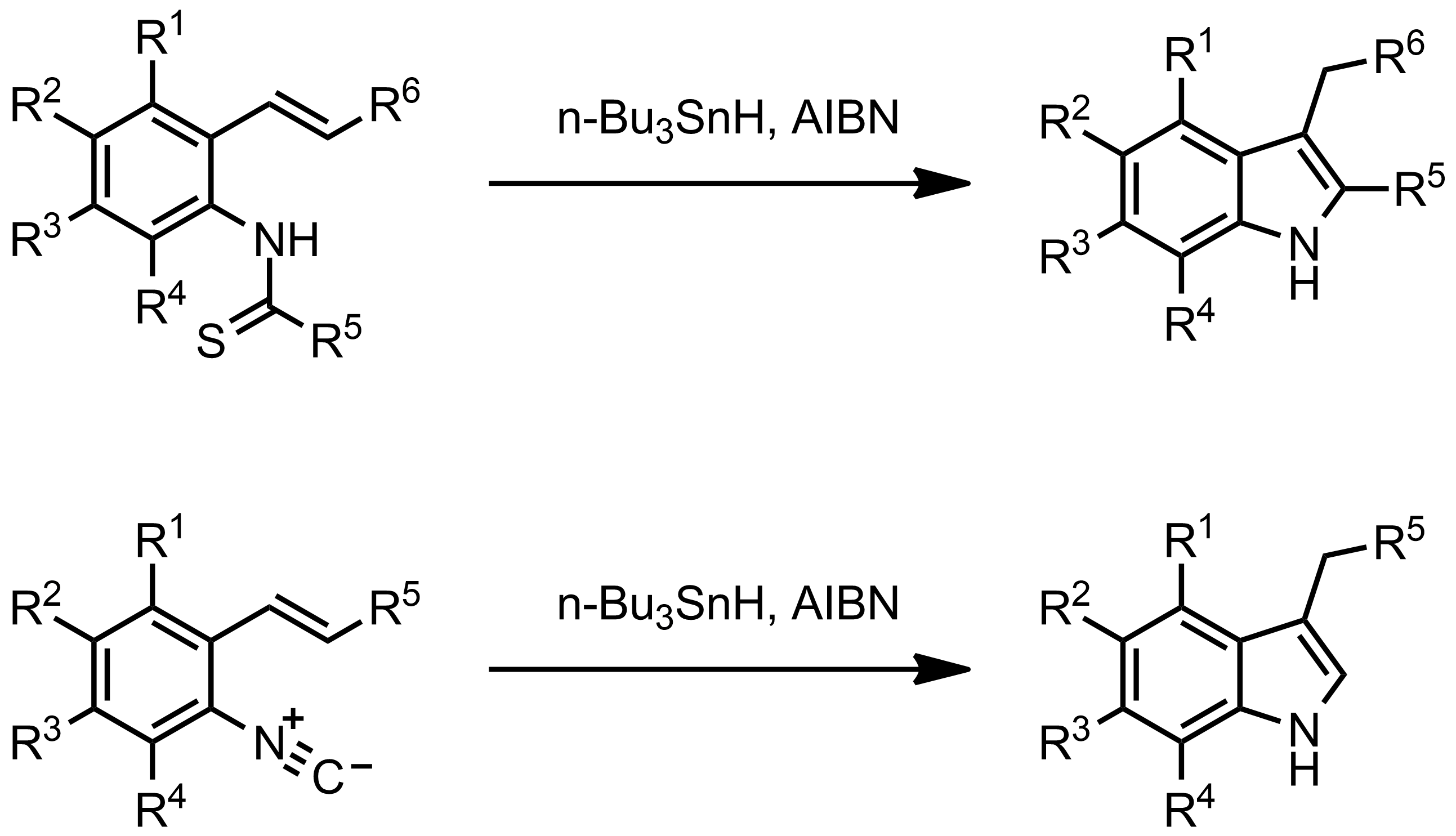 Schematic representation of the Fukuyama Indole Synthesis.