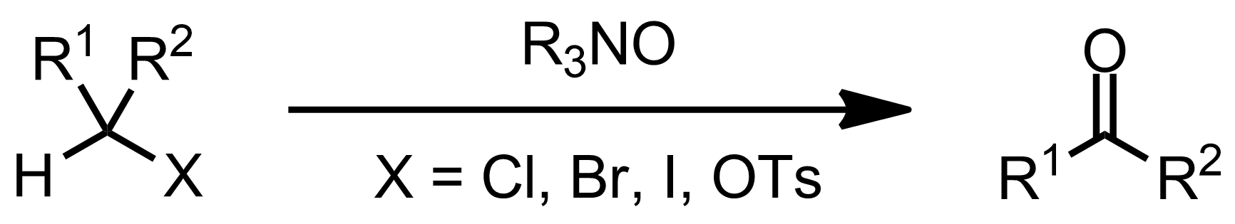 Schematic representation of the Ganem Oxidation.