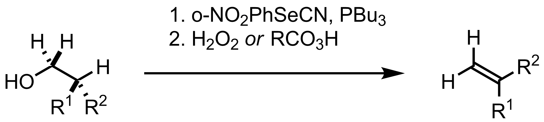 Schematic representation of the Grieco Dehydration.