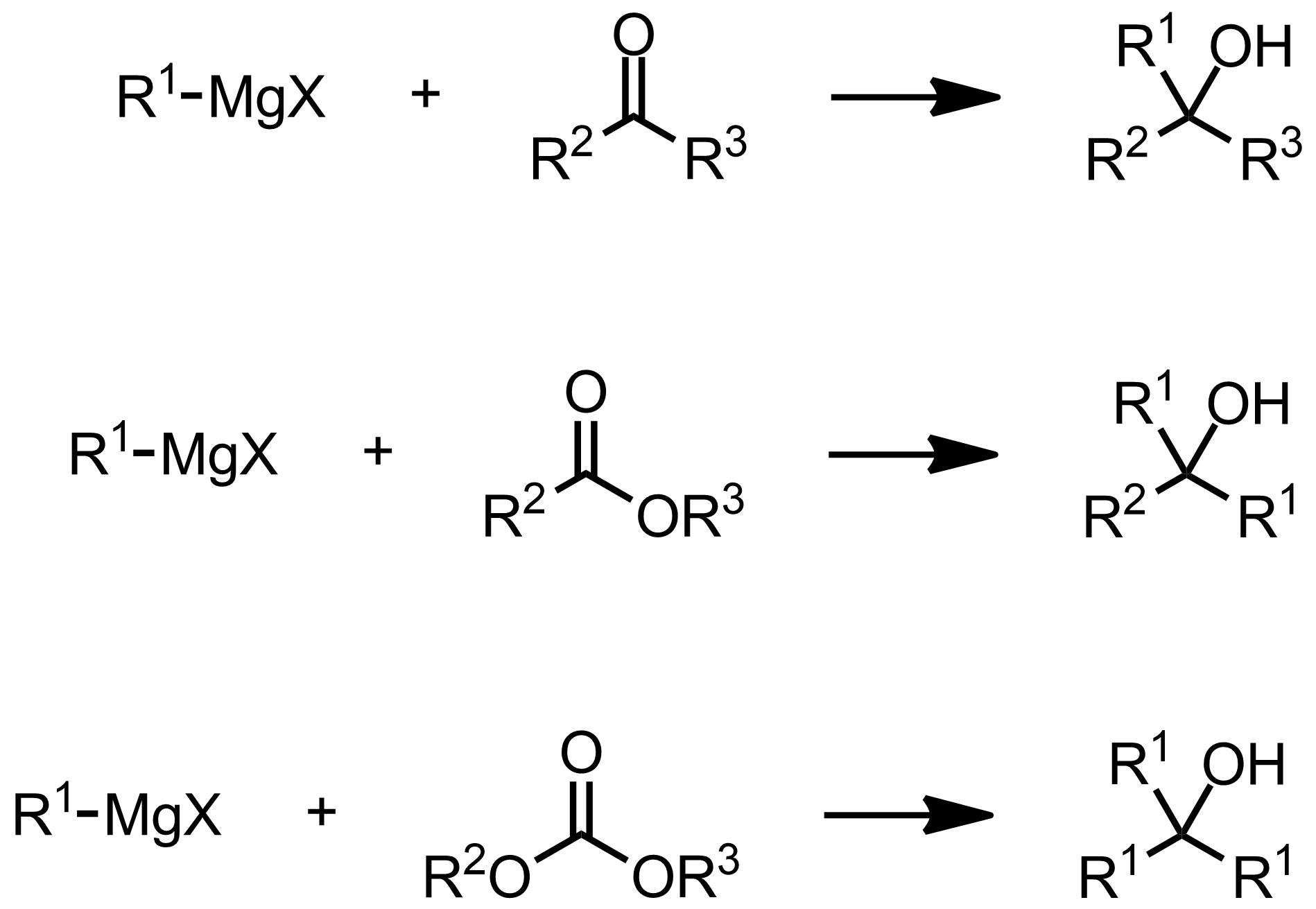 Schematic representation of the Grignard Reaction.