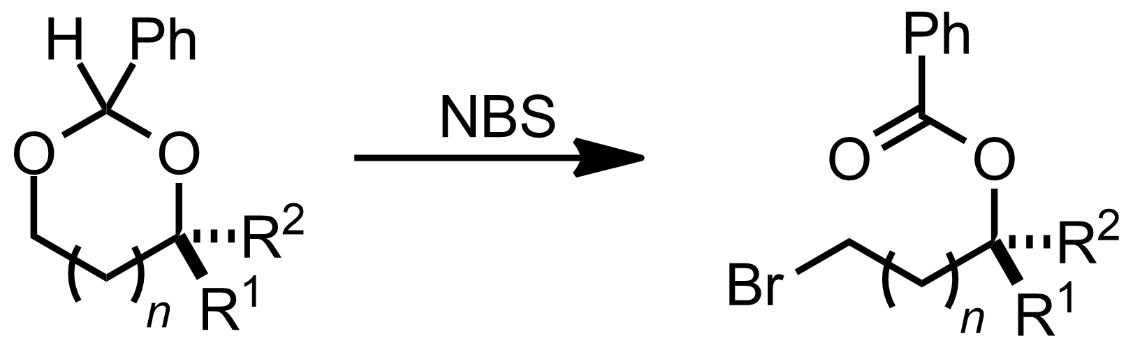 Schematic representation of the Hanessian-Hullar Reaction.