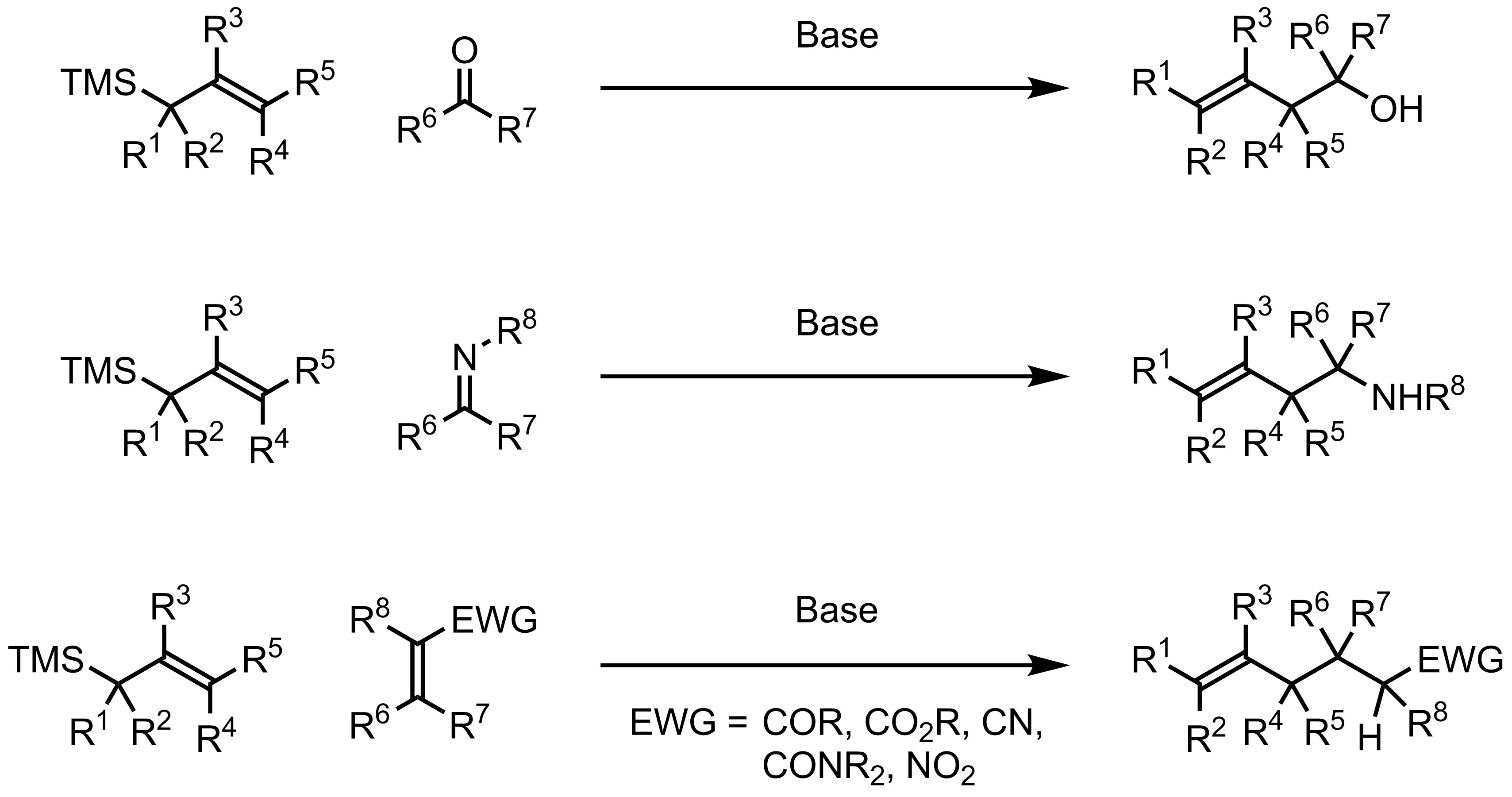 Schematic representation of the Hosomi-Sakurai Reaction.