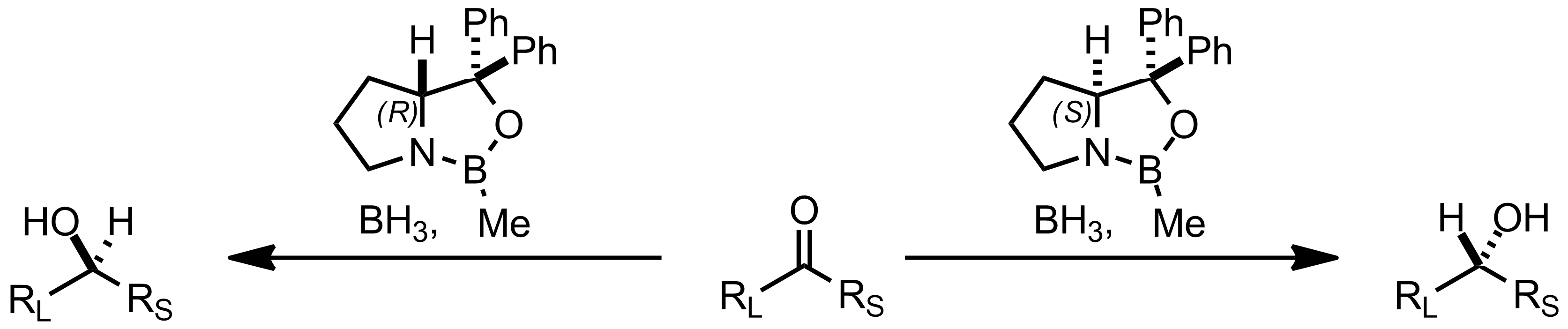 Schematic representation of the Itsuno-Corey Reduction.