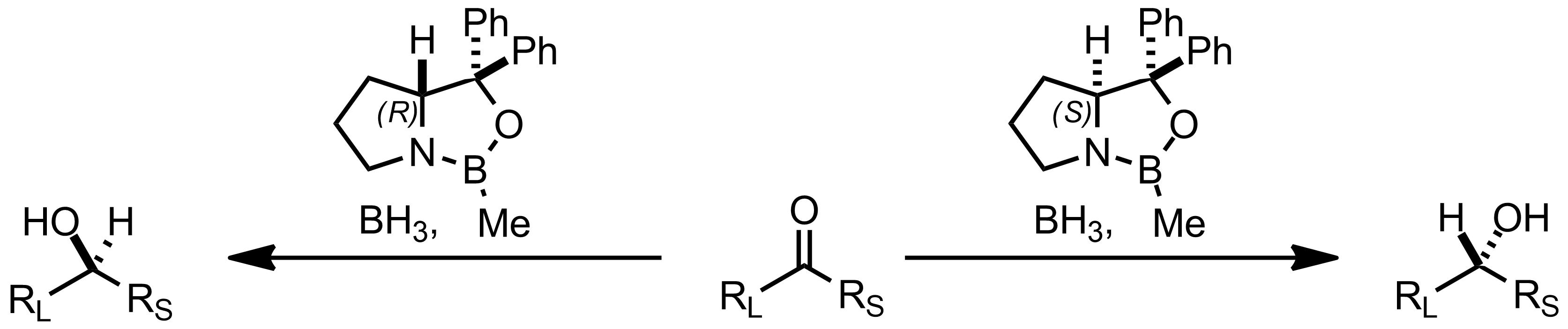Schematic representation of the Itsuno-Corey Reduction.