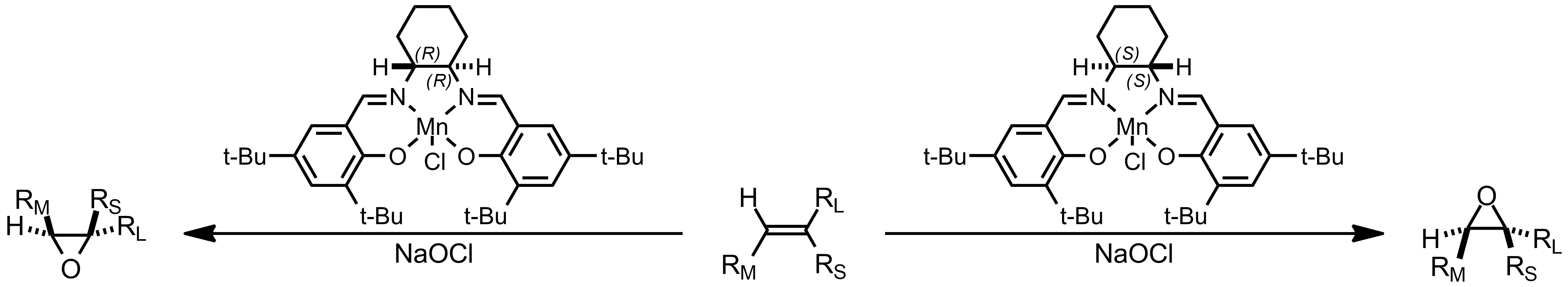 Schematic representation of the Jacobsen-Katsuki Asymmetric Epoxidation.