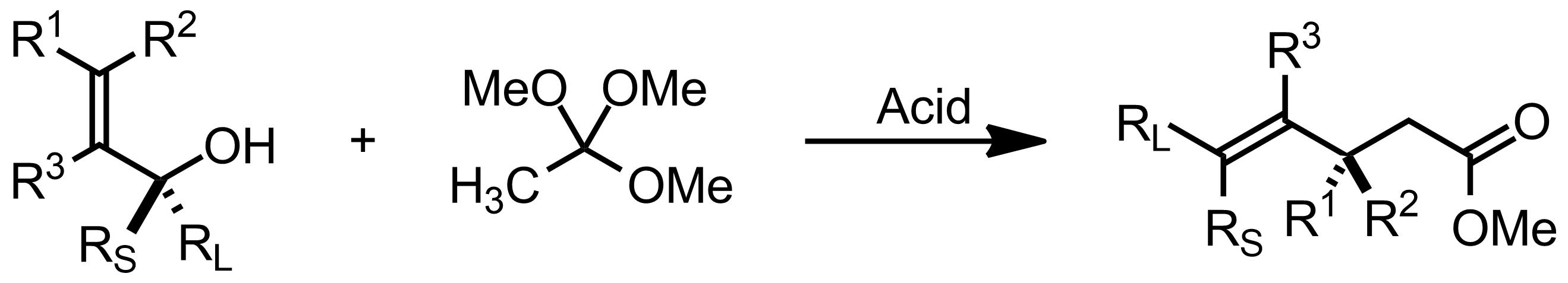Schematic representation of the Johnson-Claisen Rearrangement.