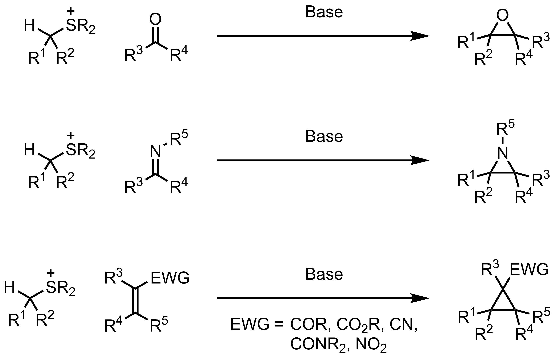 Schematic representation of the Johnson-Corey-Chaykovsky Reaction.
