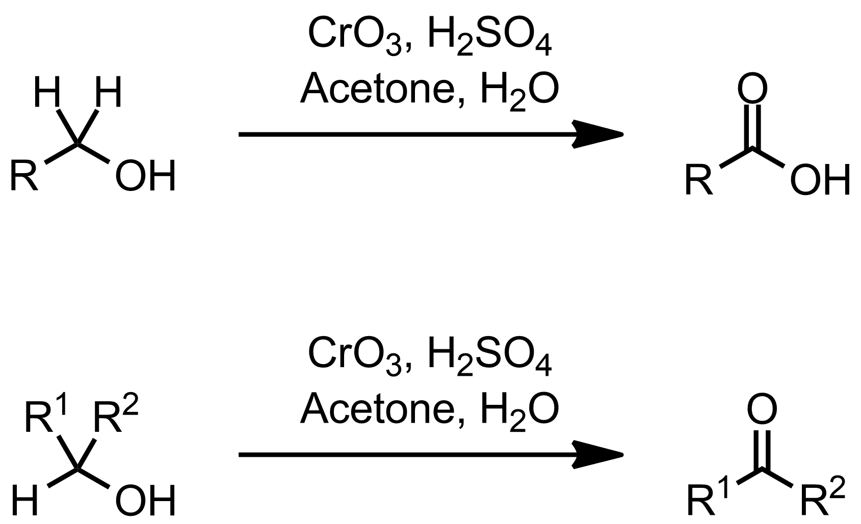 Schematic representation of the Jones Oxidation.