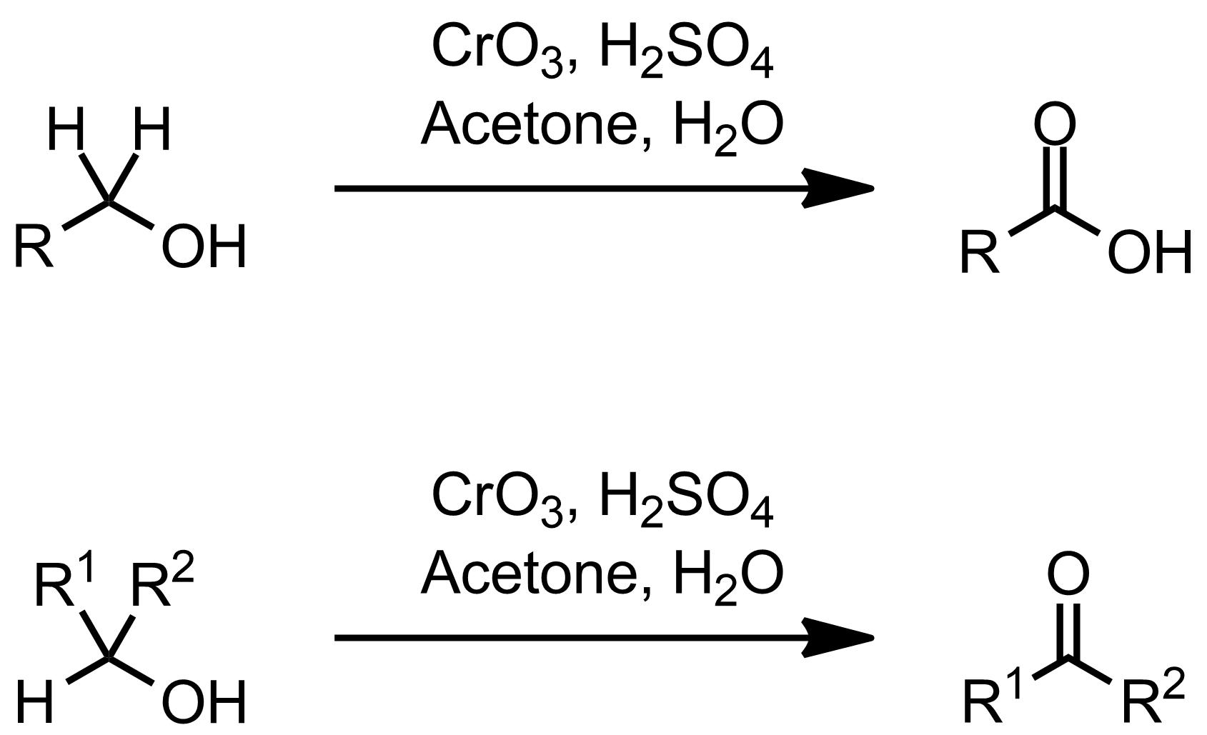 Schematic representation of the Jones Oxidation.