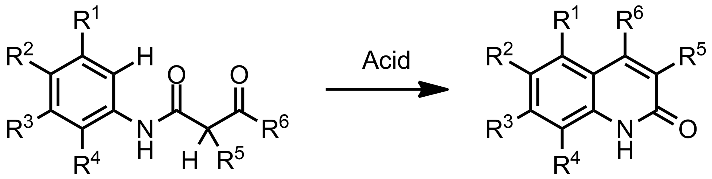 Schematic representation of the Knorr Quinoline Synthesis.