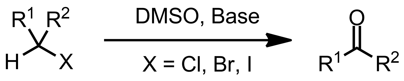 Schematic representation of the Kornblum Oxidation.