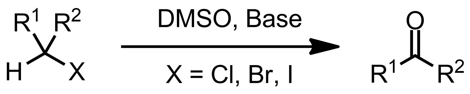 Schematic representation of the Kornblum Oxidation.