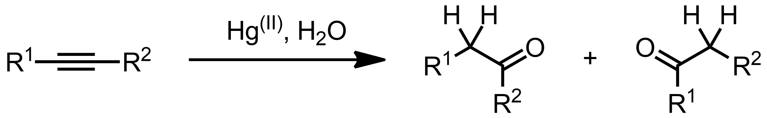 Schematic representation of the Kucherov Reaction.