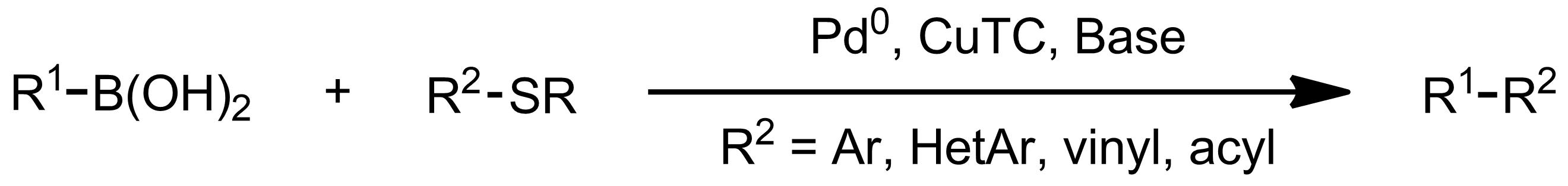 Schematic representation of the Liebeskind-Srogl Coupling.