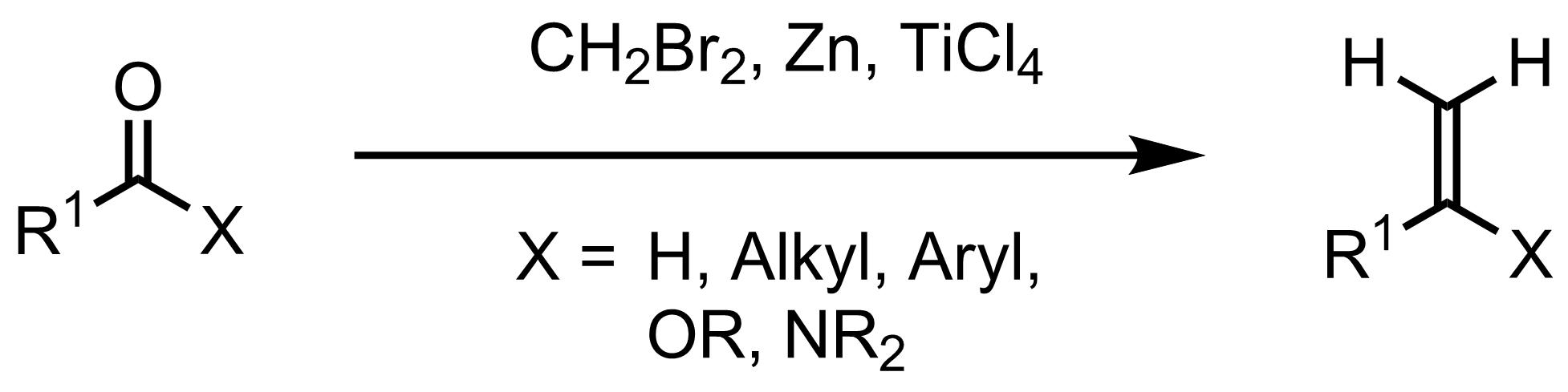 Schematic representation of the Lombardo Methylenation.