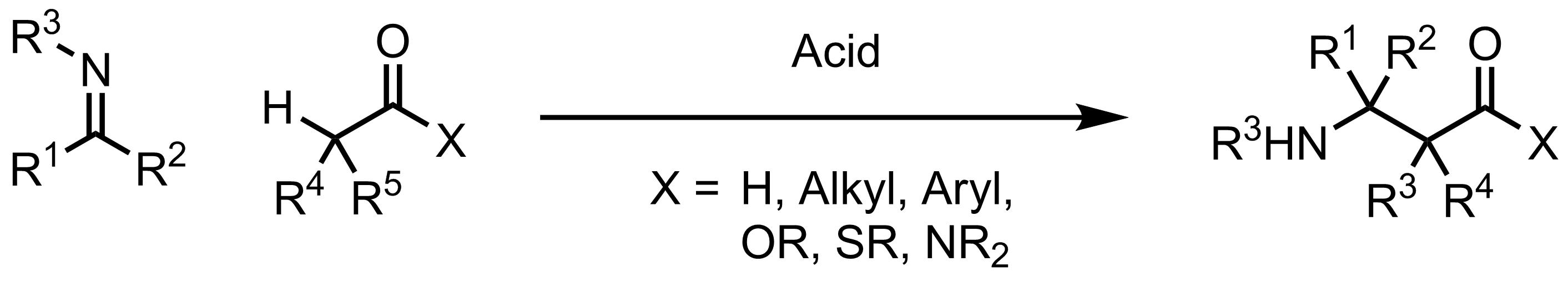 Schematic representation of the Mannich Reaction.