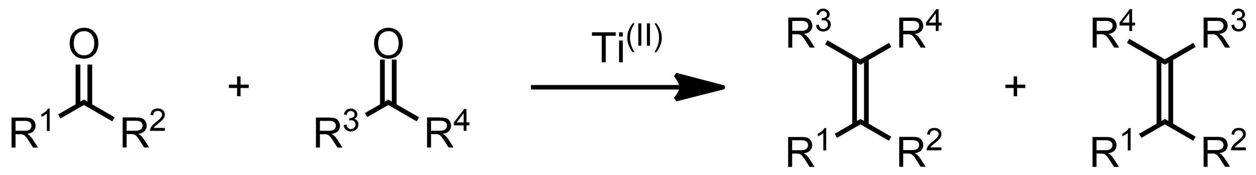 Schematic representation of the McMurry Reaction.
