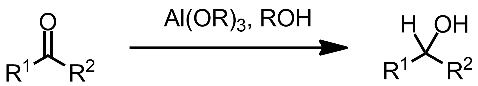 Schematic representation of the Meerwein-Ponndorf-Verley Reduction.