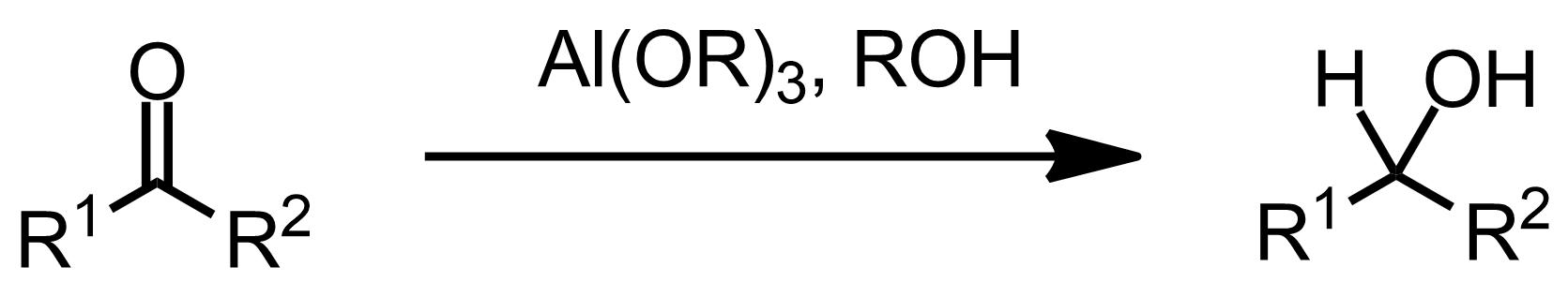 Schematic representation of the Meerwein-Ponndorf-Verley Reduction.