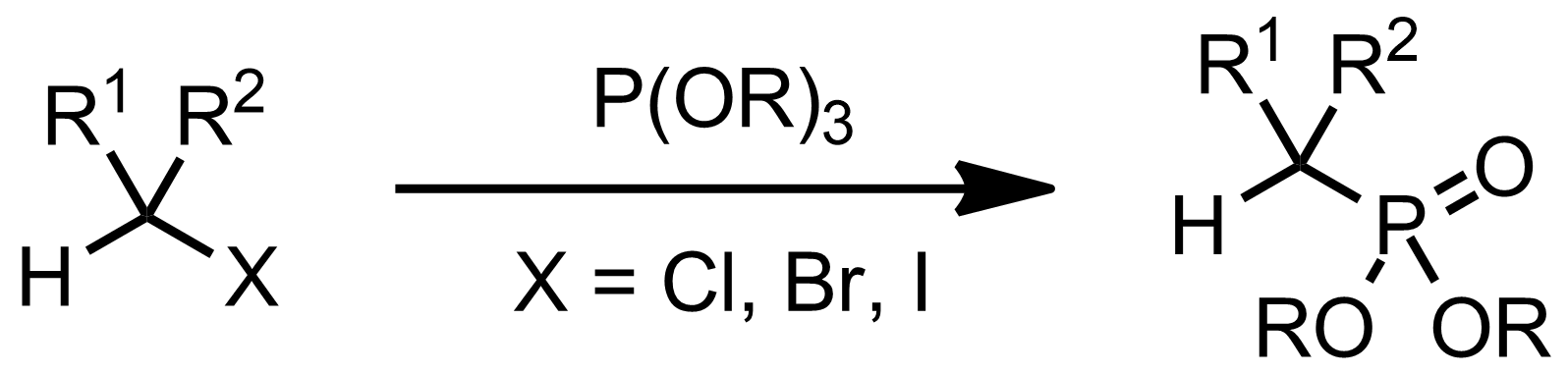 Schematic representation of the Michaelis-Arbuzov Reaction.