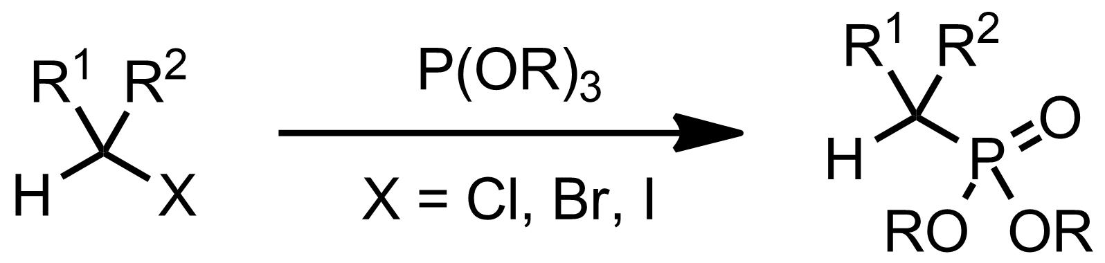 Schematic representation of the Michaelis-Arbuzov Reaction.