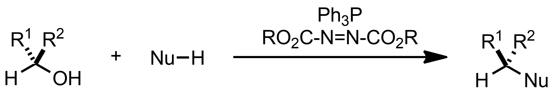 Schematic representation of the Mitsunobu Reaction.