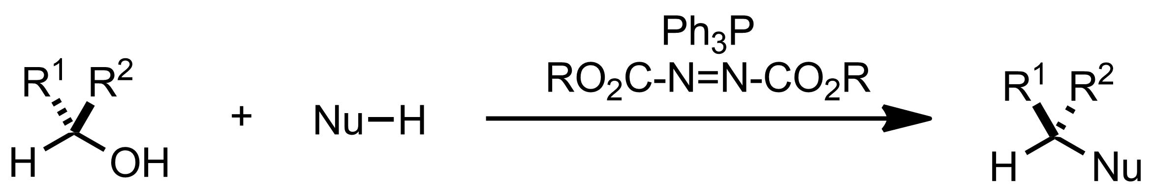 Schematic representation of the Mitsunobu Reaction.