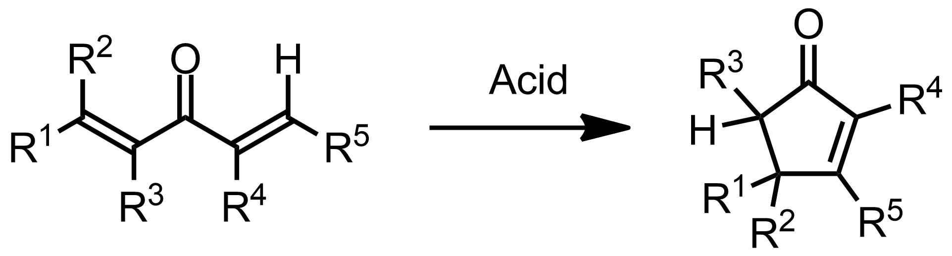 Schematic representation of the Nazarov Cyclization Reaction.
