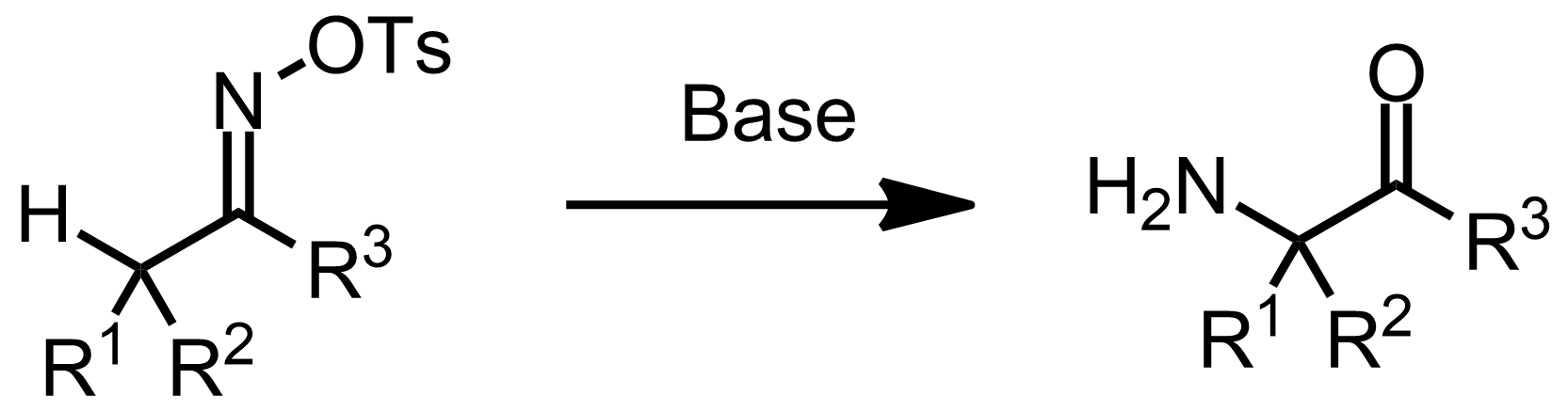 Schematic representation of the Neber Rearrangement.