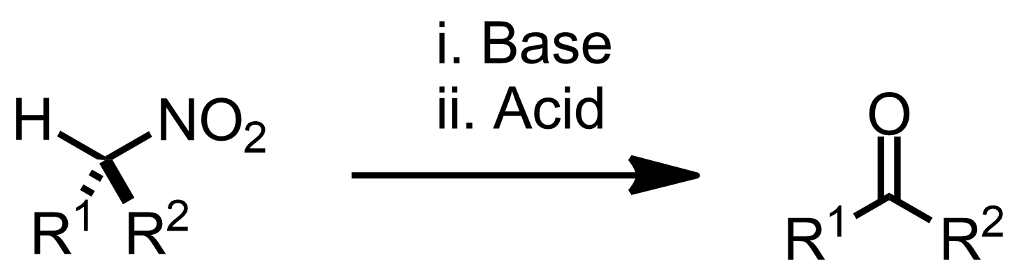 Schematic representation of the Nef Reaction.