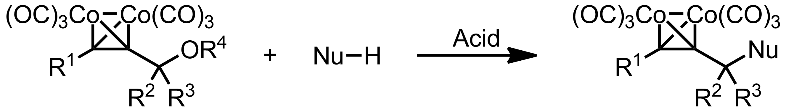 Schematic representation of the Nicholas Reaction.