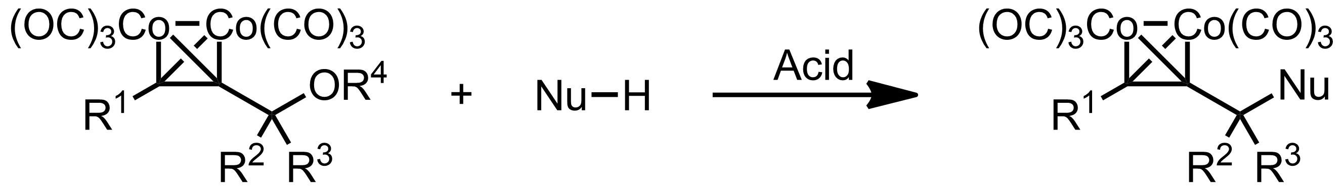 Schematic representation of the Nicholas Reaction.