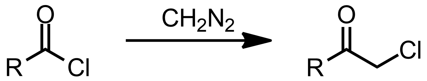 Schematic representation of the Nierenstein reaction.