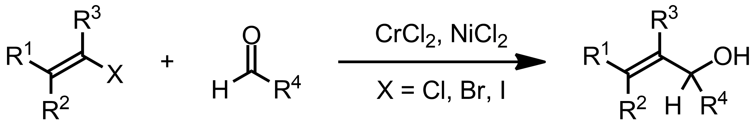 Schematic representation of the Nozaki-Hiyama-Kishi Reaction.